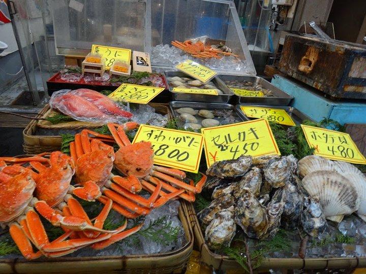 黑門市場。平民街市找海鮮和牛吃