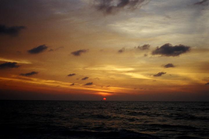 夕陽西下的Negombo