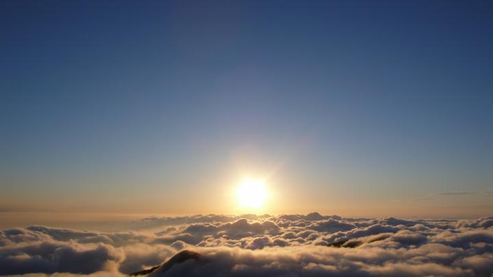 大屯山看雲海