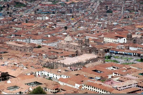 birdview of cusco