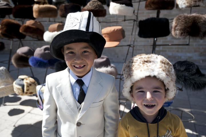 Central asia kids in Bukhara