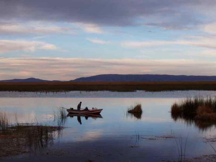 秘魯的的喀喀湖