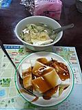......西螺小吃.....+凸皮豆腐汤  2样共40元~~~
