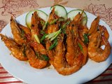Buttered shrimp with garlic